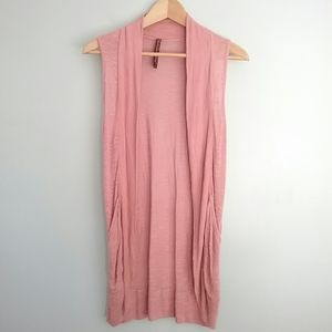 Absolutely Pink Drap Front Thin Vest
